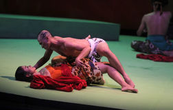 Taniec historia miłosna Zdjęcia Royalty Free