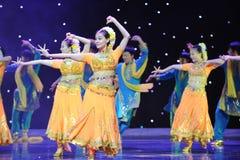 Taniec Indiaï ¼ šCollective taniec Obraz Stock