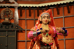 taniec kathakali tradional aktorem Kochi (Cochin), India zdjęcia stock