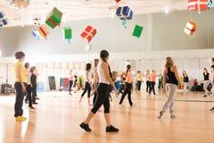 Taniec klasa dla kobiet zdjęcie stock