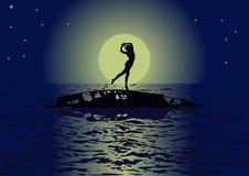 taniec księżyc zdjęcia stock