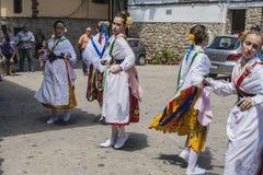 Taniec Las Italinas, także znać jak tana cygan Cacer Obrazy Stock