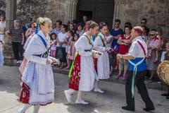 Taniec Las Italinas, także znać jak tana cygan Cacer Zdjęcie Stock
