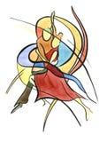 taniec para pojedynczy white ilustracji