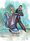taniec para pojedynczy white royalty ilustracja