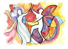 taniec para pojedynczy white ilustracja wektor