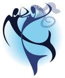 taniec pod wodą Zdjęcia Stock
