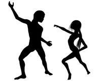taniec pozwalać s Obraz Royalty Free