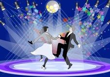 taniec scena ilustracja wektor