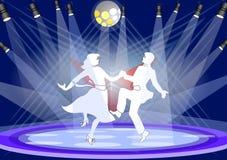 taniec scena ilustracji