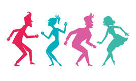 Taniec sylwetka zdjęcia stock