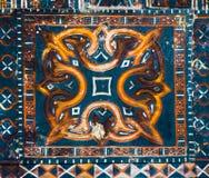 Taniec Toraja, antyczna kolorowa dekoracja na drewnie Zdjęcie Stock