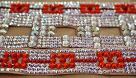 Taniec towarzyski turniejowa biżuteria robić błyszczący kryształy Zdjęcia Stock