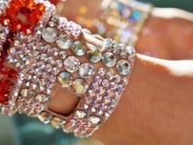 Taniec towarzyski turniejowa biżuteria robić błyszczący kryształy Fotografia Royalty Free