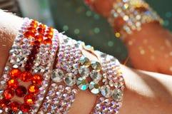 Taniec towarzyski turniejowa biżuteria robić błyszczący kryształy Zdjęcie Stock
