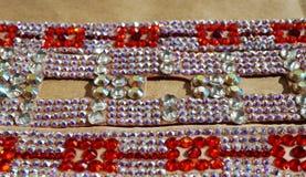 Taniec towarzyski turniejowa biżuteria robić błyszczący kryształy Obraz Royalty Free