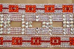 Taniec towarzyski turniejowa biżuteria robić błyszczący kryształy Obraz Stock