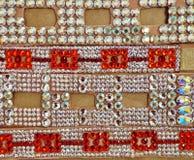 Taniec towarzyski turniejowa biżuteria robić błyszczący kryształy Zdjęcie Royalty Free