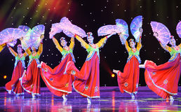 Taniec trippingly---Koreański taniec Fotografia Stock
