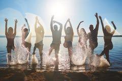 Taniec w wodzie zdjęcia stock