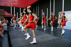 Taniec z majorettes od Bułgaria Zdjęcia Royalty Free