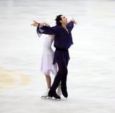 Tanith Belbin en Ben Agosto (de V.S.) stock foto