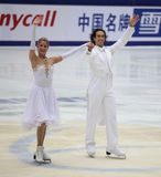 Tanith Belbin (EUA) e Ben Agosto (EUA) Fotografia de Stock Royalty Free