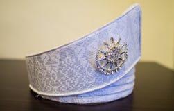 Tanjak eine malaysische Hochzeits-Kopfbedeckung Stockbild