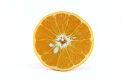 Tanjerina isolada da tangerina do mandarino citrino maduro no fundo branco Foto de Stock