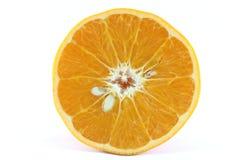 Tanjerina madura da tangerina do citrino do mandarino no fundo branco Imagem de Stock