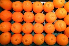 Tanjerinas no mercado Fotografia de Stock Royalty Free