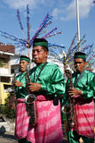 Tanjidor musikkapacitet, Pontianak Arkivfoton