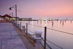 Tanjong City Marina. Sunrise in Penang Stock Photos
