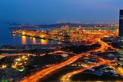 Tanjong Pagar端口终端在新加坡 免版税库存照片