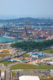 Tanjong Pagar. SINGAPORE-JAN 19:Aerial view of Tanjong Pagar container terminal in SINGAPORE on Jan 19, 2011.Tanjong Pagar container terminal is one of busiest Royalty Free Stock Photography