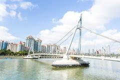 Tanjong Rhu bridge, Singapore. Day scene of Tanjong Rhu bridge, Singapore Stock Photo