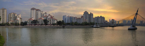 Tanjong Rhu Residential District Sunset Stock Photo