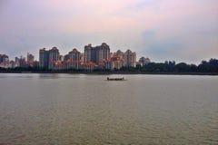 Tanjong Rhu. Waterfront private housing at Tanjong Rhu, facing Kallang river basin in Singapore Royalty Free Stock Photo