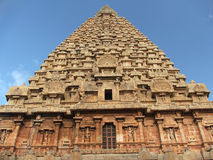 Tanjore temple. The tanjore big temple gopuram india Stock Image