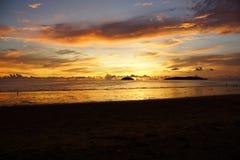Tanjung Aru Beach. Kota Kinabalu, Sabah Stock Image