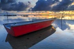 Tanjung aru beach, Labuan. Malaysia 02. Boat at Tanjung Aru beach Labuan Malaysia. with beautiful sunrise Stock Images