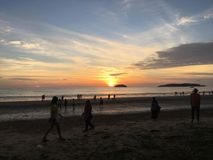 Tanjung Aru plaża Zdjęcia Stock
