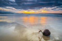 Tanjung Aru Strand-Sonnenuntergang Stockfotos