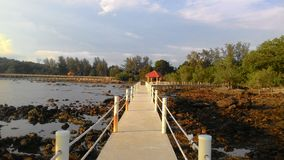 Tanjung Balau strandsemesterort Arkivbild
