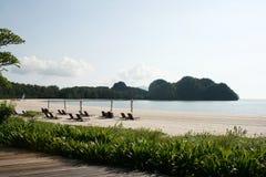 tanjung för strandölangkawi rhu Arkivbild