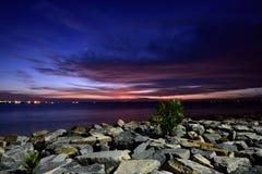 Tanjung Harapan Sunset Royalty Free Stock Images