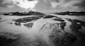 Tanjung jara on black and white Stock Photography