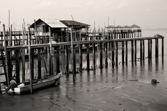 Tanjung Piai. A fish village at Tanjung Piai Royalty Free Stock Photos