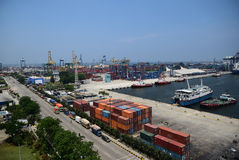 Tanjung Priok port jakarta Royalty Free Stock Photos