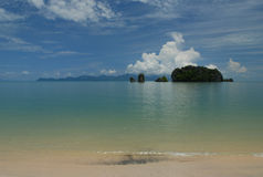 Tanjung Rhu Beach, Langkawi in Malaysia. A sunny day on a paradise island Royalty Free Stock Photography